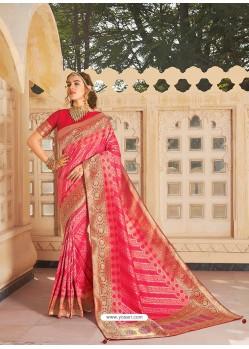 Rani Magnificent Designer Soft Silk Wedding Sari