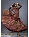 Talismanic Cotton Brown Anarkali Suit