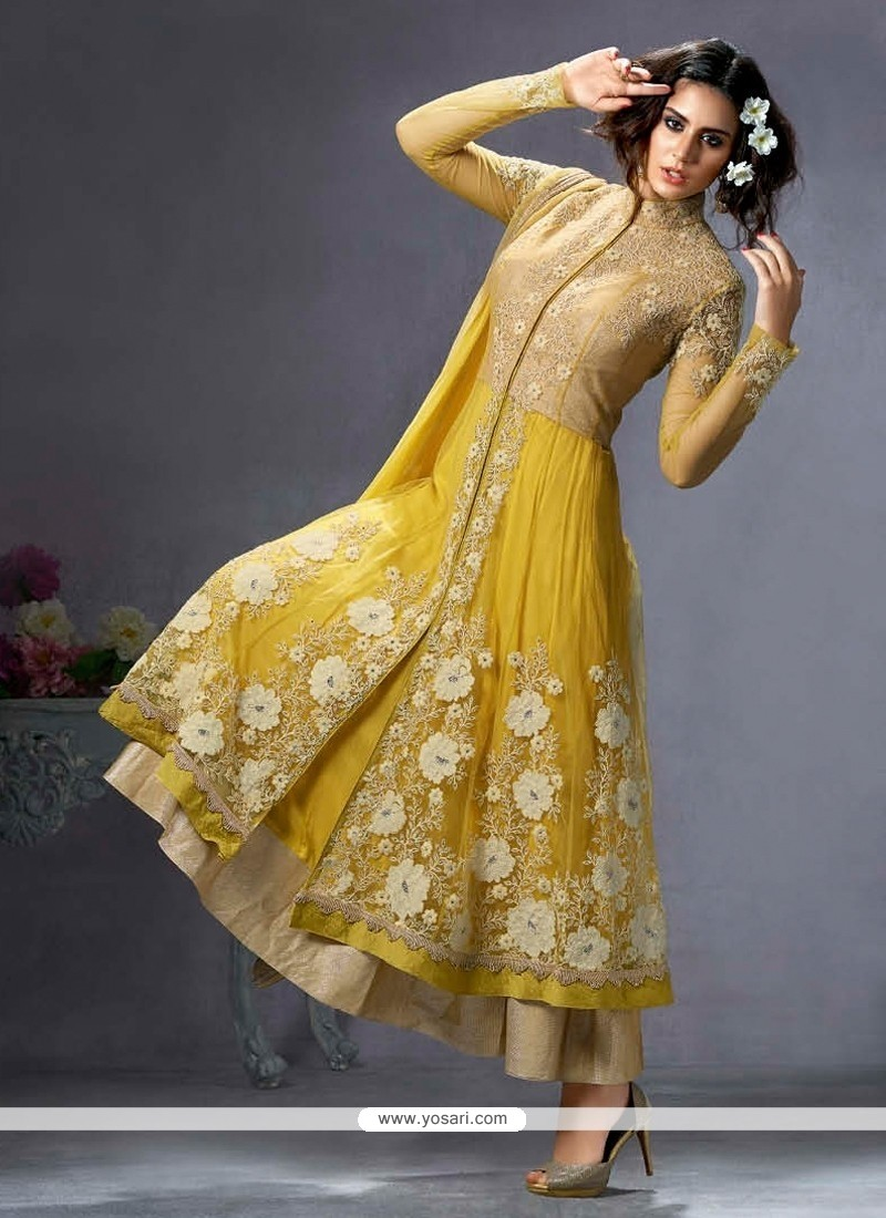 Innovative Net Anarkali Salwar Suit