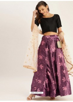 Purple Heavy Designer Party Wear Lehenga