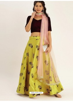 Lemon Heavy Designer Party Wear Lehenga