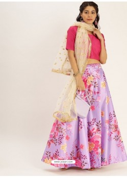 Mauve Heavy Designer Party Wear Lehenga