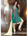 Superb Chanderi Churidar Designer Suit