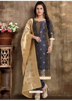 Purple Readymade Heavy Designer Party Wear Straight Salwar Suit