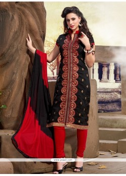 Entrancing Chanderi Churidar Designer Suit