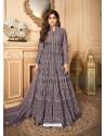 Lavender Latest Heavy Designer Premium Net Party Wear Anarkali Suit