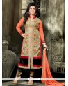 Elegant Georgette Designer Straight Salwar Suit