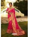 Rani Designer Party Wear Banarasi Silk Sari