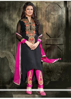 Voluptuous Georgette Resham Work Designer Salwar Suit