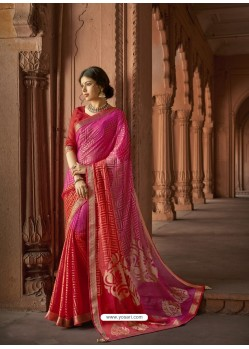 Rani Designer Party Wear Printed Brasso Silk Sari