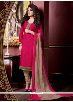 Charismatic Jacquard Embroidered Work Churidar Suit