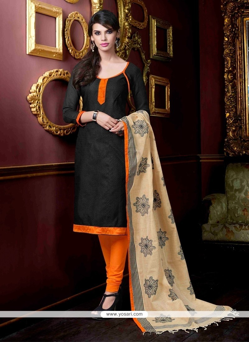 Majesty Black Churidar Salwar Kameez