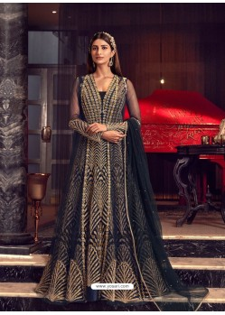 Multi Colour Latest Heavy Embroidered Designer Wedding Anarkali Suit With Jacket
