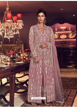 Old Rose Latest Heavy Embroidered Designer Wedding Anarkali Suit