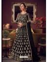 Black Latest Heavy Embroidered Designer Wedding Anarkali Suit