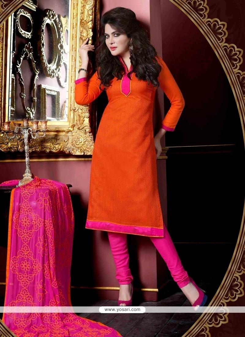 Amusing Jacquard Lace Work Churidar Salwar Suit
