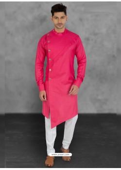 Rani Designer Festive Wear Cotton Kurta Pajama For Men