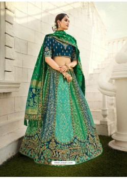 Multi Colour Ravishing Heavy Embroidered Designer Wedding Wear Lehenga Choli