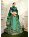 Multi Colour Ravishing Heavy Embroidered Designer Wedding Wear Lehenga Choli