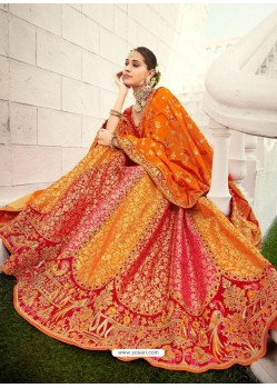 Mustard Ravishing Heavy Embroidered Designer Wedding Wear Lehenga Choli
