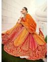Mustard Ravishing Heavy Embroidered Designer Wedding Wear Lehenga Choli