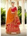 Red Ravishing Heavy Embroidered Designer Wedding Wear Lehenga Choli