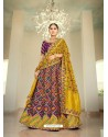 Purple Ravishing Heavy Embroidered Designer Wedding Wear Lehenga Choli