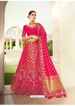 Rani Ravishing Heavy Embroidered Designer Wedding Wear Lehenga Choli