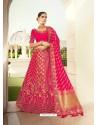 Rani Ravishing Heavy Embroidered Designer Wedding Wear Lehenga Choli