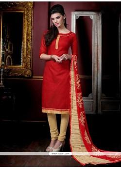 Suave Jacquard Churidar Salwar Suit