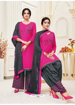 Rani Classy Heavy Designer Party Wear Straight Salwar Suit