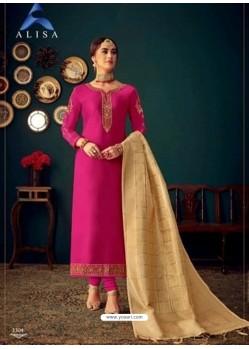 Rani Heavy Designer Jam Satin Cotton Straight Salwar Suit