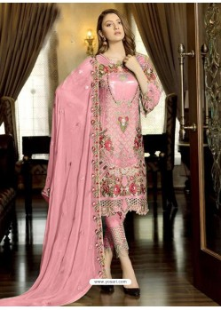 Pink Latest Party Wear Designer Faux Georgette Pakistani Suit