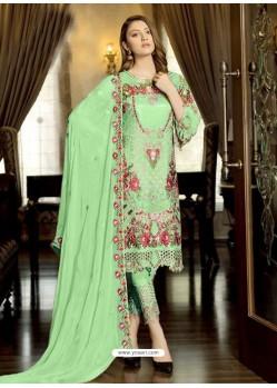 Sea Green Latest Party Wear Designer Faux Georgette Pakistani Suit