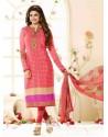 Prachi Desai Pink Designer Straight Salwar Kameez