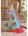 Light Grey Beautiful Designer Casual Wear Art Silk Sari