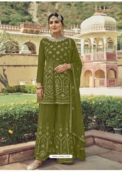Mehendi Designer Embroidered Heavy Georgette Garara Suit