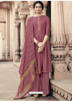 Deep Wine Designer Viscous Maslin Party Wear Palazzo Salwar Suit