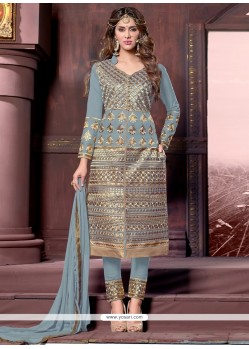 Exotic Zari Work Designer Straight Suit