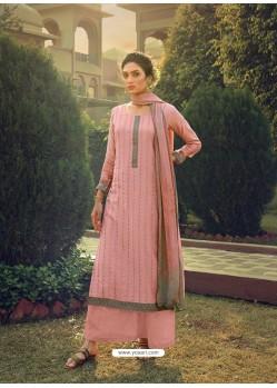 Pink Designer Pure Maslin Party Wear Palazzo Salwar Suit