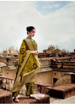 Mehendi Designer Pure Maslin Party Wear Palazzo Salwar Suit