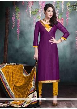 Aspiring Purple Churidar Salwar Kameez