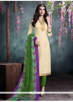 Savory Bhagalpuri Silk Churidar Designer Suit
