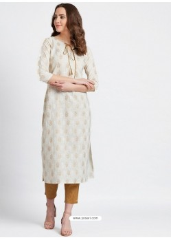 Off White Latest Designer Party Wear Kurti