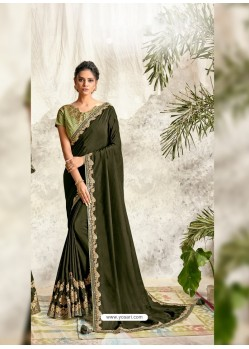Mehendi Latest Designer Party Wear Wedding Sari