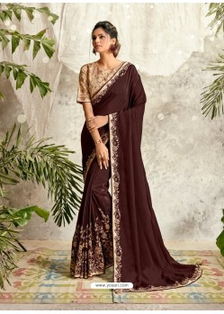 Deep Scarlet Latest Designer Party Wear Wedding Sari