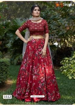 Maroon Girlish Designer Party Wear Lehenga