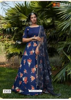 Dark Blue Girlish Designer Party Wear Lehenga