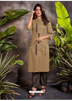 Camel Fabulous Readymade Designer Party Wear Palazzo Salwar Suit