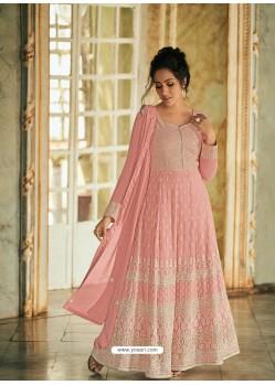 Baby Pink Latest Designer Real Georgette Party Wear Anarkali Suit